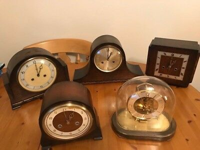 Five Mantel Clocks  Need Attention