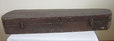 Vintage Antique Wooden Wood Violin Case Shelves Hidden Compartment Door Modified