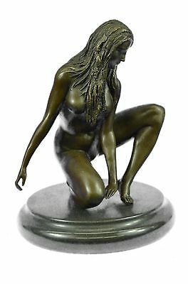 Hot Cast Museum Quality Nude Female Bronze Sculpture Hand Crafted Item Gift SALE