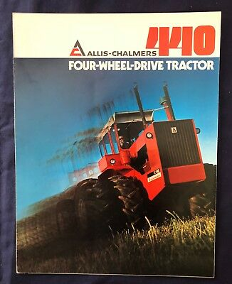 1974 ALLIS-CHALMERS 440 FOUR-WHEEL DRIVE TRACTOR ** 6 Page Fold Out Brochure