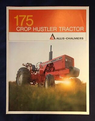 1971 ALLIS-CHALMERS 175 CROP HUSTLER TRACTOR ** 6 Page Fold Out Brochure