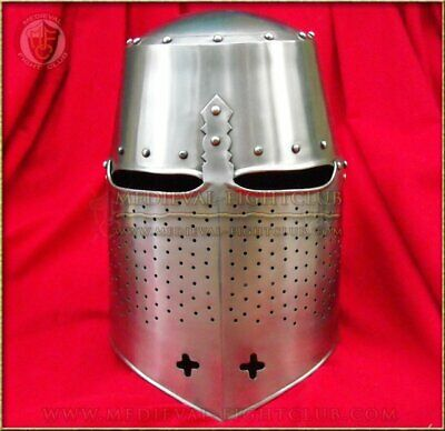 Barrel Helm - domed top with chin crosses