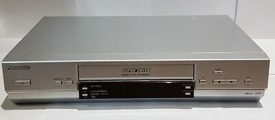 Panasonic NV-HV61 silver video player/recorder with super drive VHS VCR
