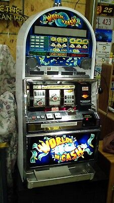 Bally World Of Cash Slot Machine  S6000 Model Works But Dosn't Always Cash Out
