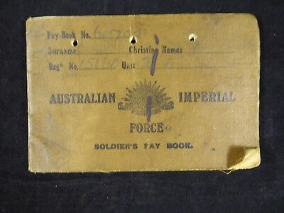 WW1 Australian Imperial Force Soldier's Pay Book