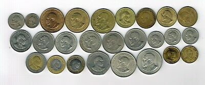 25 different coins from Kenya : 1966 - 1998