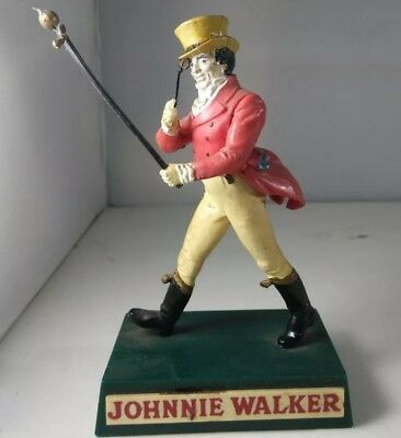 "Vintage Johnnie Walker Advertising Figurine Plastic 4.5"" Scotch Whiskey 1950s"