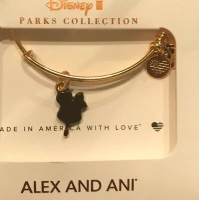 Disney Alex And Ani Mickey Ice Cream Bar Snack Food GOLD Bracelet Bangle New