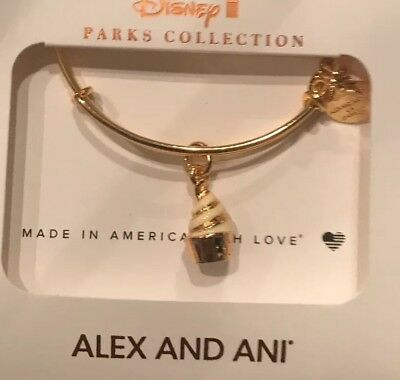 Disney Parks Alex and Ani Pineapple Dole Whip Snack GOLD Bracelet NEW Bangle