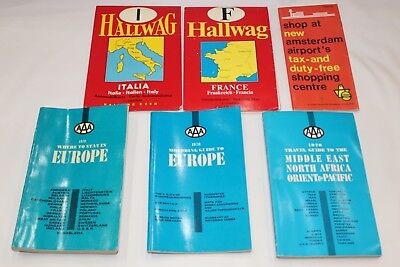 Vintage Travel guides LOT/ books/ maps Travel Europe France 1970