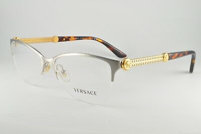 016791266f2b Versace Women's Silver Glasses with Case New MOD 1228 1266 53mm M20
