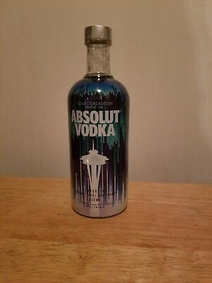 Here is 1 of the 2018 Absolut vodka Seattle space Needle collectors edition