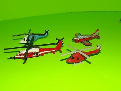 N Scale Emergency Services helocopters and Airplane