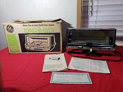 Vintage GE General Electric Deluxe Toaster Oven Toast R Oven Chrome T93B