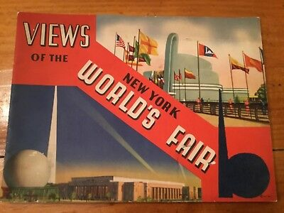 1939 Views Of The  New York Worlds Fair Full Color Book