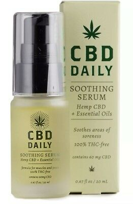 CBD Daily Soothing Serum & Cream, Hemp & Essential Oils Muscle Joint Pain Relief