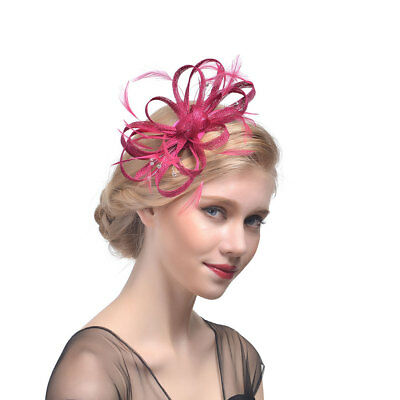Feather & Pearl Head Alice Band Fascinator Race Ladies Day Wedding Royal Decor