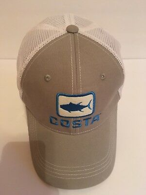 306539e2f9f BRAND NEW COSTA Del Mar Mesh Shield Adjustable Cap Hat Black ...
