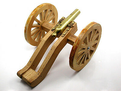 Vintage Custom Unfinished Brass And Wood Black Powder Cannon – Well Made