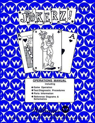 Jokerz Pinball Gane Operations/Service/Repair Manual/Arcade Machine Williams PPS