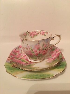 Royal Albert Blossom Time Teacup And Saucer Trio
