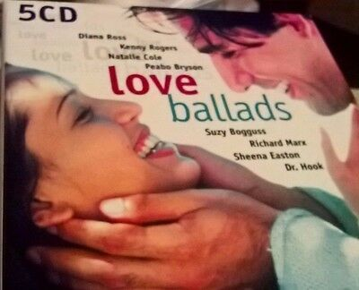Love Ballads 5 CD Boxed Set (2000)- Various Artists Pre-loved