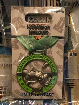 Run Disney Walt Disney World Goofy Challenge 39.3 Medal Pin New LR
