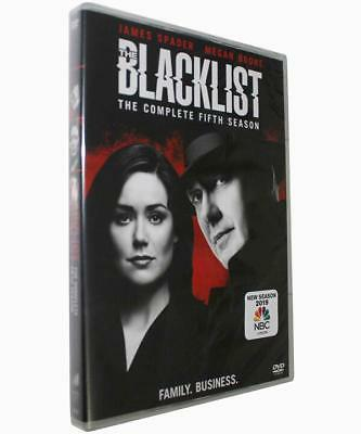 The Blacklist: The Complete Fifth Season (DVD, 2018, 5-Disc Set) New Sealed