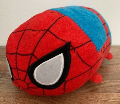 "Disney Store Marvel SPIDERMAN Medium 11"" Tsum Tsum Plush Doll"