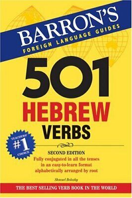 501 Hebrew Verbs (Barron's Foreign Language Guide... by Shmuel Bolozky Paperback