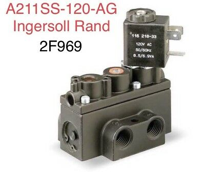 "1/8"" Pipe ARO Solenoid Air Control Valve A211SS-120-A Ingersoll Rand 2F969"