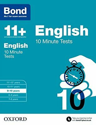 Bond 11+: English 10 Minute Tests: 9-10 years by Bond 11+ Book The Cheap Fast