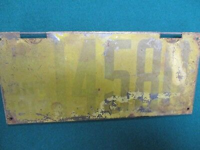 1913 Ontario Canada License Plate  Odd Type Tag