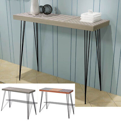 Stylish Design Narrow Console Table Hallway Side End Table Sideboard Steel  Legs