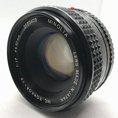 【Exc+++++】MINOLTA MC ROKKOR PF 50mm f/1.7 MF Lens for MD Mount from JAPAN F/S