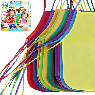 Non-woven Fabrics Apron For Kitchen Cooking Classroom Crafts Art Painting