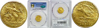 1915-S Panama-Pacific $2 1/2 Gold Commemorative PCGS MS-65 CAC