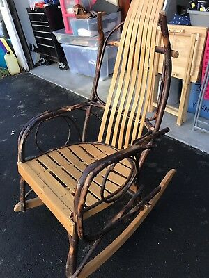 Vintage Bentwood Hickory Twig Rocker Chair. Local pick up Only