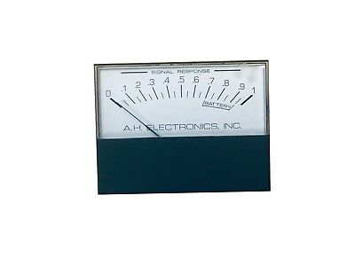 Vintage A.H. Electronics Analog Panel Meter For A.H. Pro Metal Detector, 0-1mA