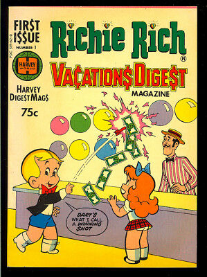 Richie Rich Vacations Digest #1 High Grade Harvey File Copy Comic 1977 VF