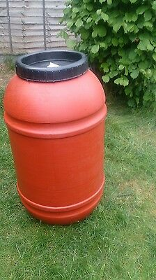 COLLECTION ONLY 220L plastic drum barrel water butt rain collecting
