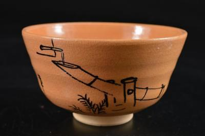 G4039: Japanese Kiyomizu-ware TEA BOWL Green tea tool Tea Ceremony