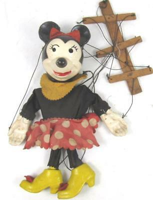 Minnie Mouse marionette puppet antique 1940