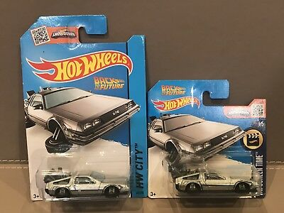 Hotwheels Back To The Future Time Machine Hover Mode Lot Of 2