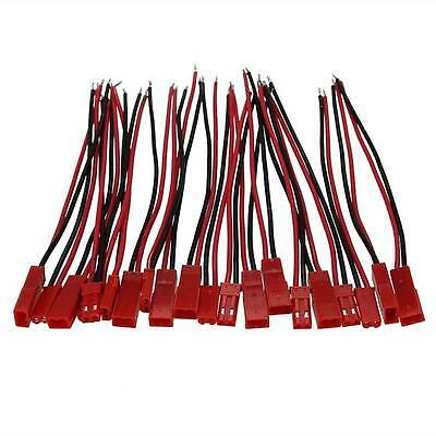 20Pcs/10Pairs Battery Plug JST RC Model Socket Connector Cable Wire Female Male