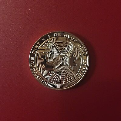 1 oz Bitcoin Guardian Commemorative Copper Coin, Freshly Minted
