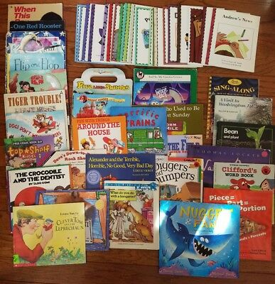 HUGE Lot of Children's Classroom Books Scholastic Home School Guided Reading Y70