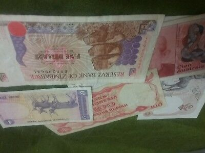 World Banknote Mix. 5 Notes From Indonesia To Zimbabwe
