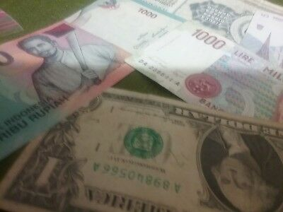 5 World Banknote Mix.USA  To  Indonesia