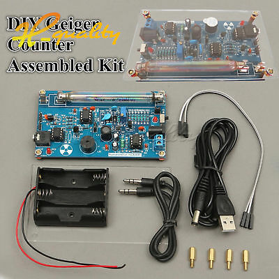 DIY Nuclear Radiation Detector GM Tube Assembled Geiger Counter Kit